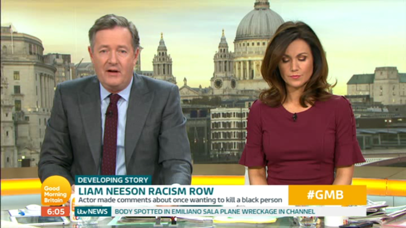 Piers Morgan Slams Liam Neeson For Recent Race-Related Comments