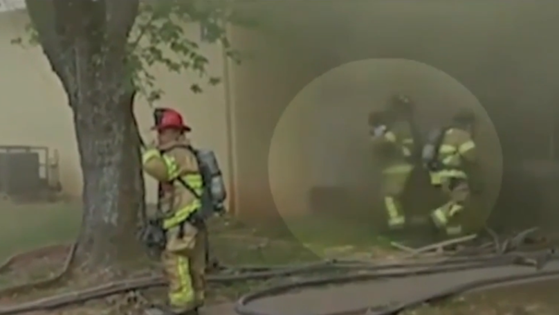 Firefighter Catches Baby Dropped From Burning Building In Dramatic Footage