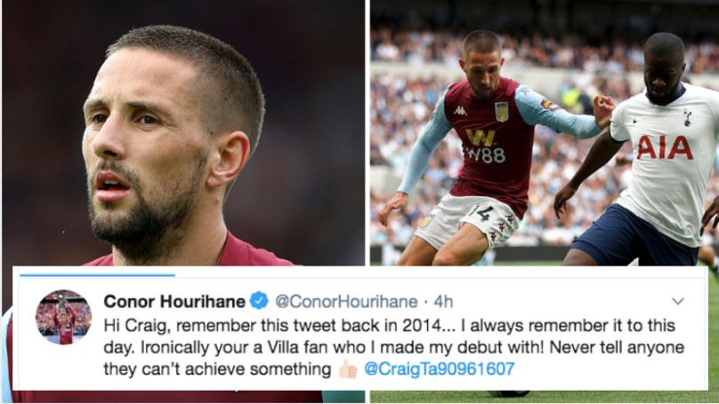 Aston Villa's Conor Hourihane Responds To Fan Who Said He'd Never Play In The Premier League