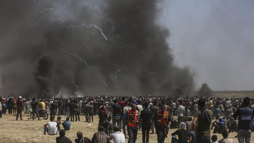 Journalist Narrowly Avoids Sniper Fire And Tear Gas In Gaza