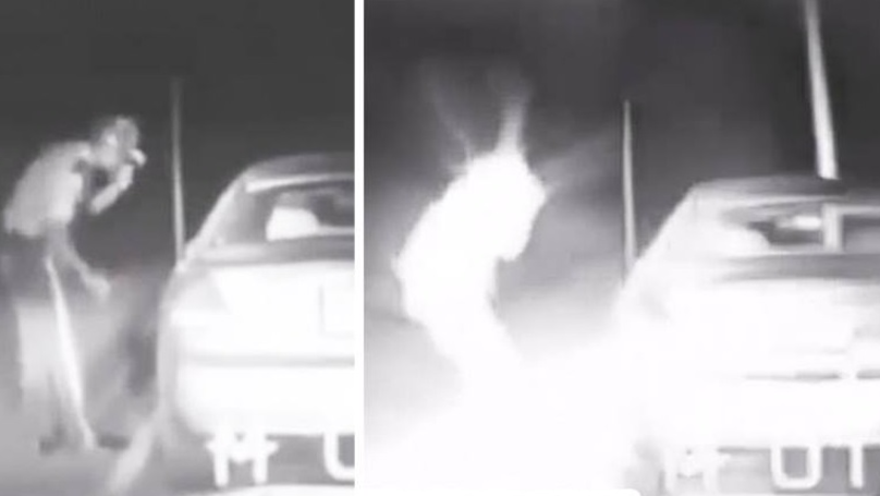 UFO Conspiracists Share Bizarre Video Of Police Officer Appearing To Teleport