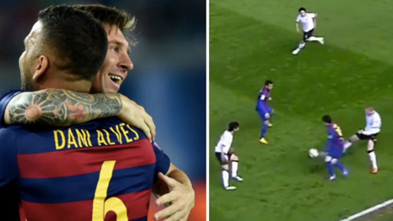 Six Minutes Of Lionel Messi And Dani Alves One-Twos Is What You Need
