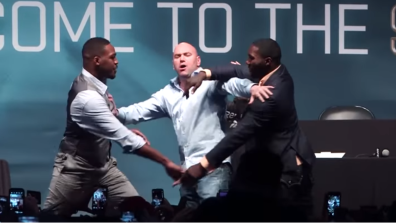 When Jon Jones And Anthony Johnson Scared Dana White With Brawl Prank