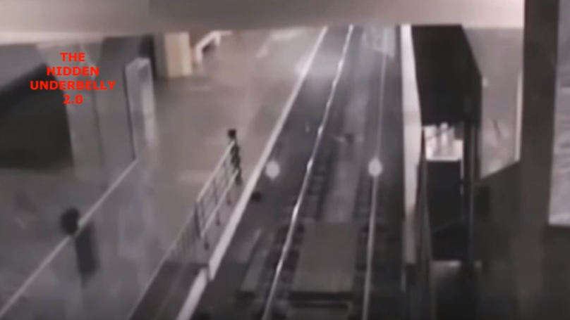​The Eerie Moment A 'Ghost Train' Rolls Into A Station