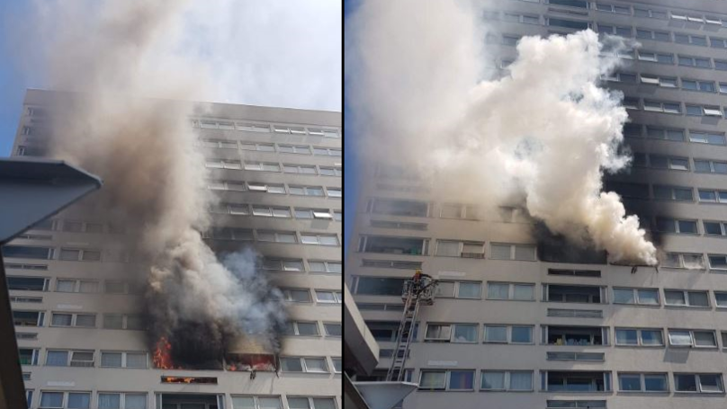 Flames Shoot Out Of Windows In London Tower Block Fire