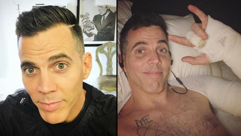 Steve-O's Ear Left In Tatters From A Stunt Gone Wrong