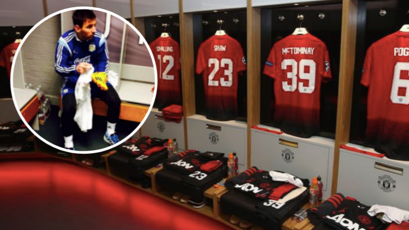 Why There's A Picture Of Lionel Messi In Manchester United's Changing Room