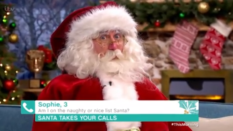 Father Christmas Appeared On This Morning And Scared Viewers