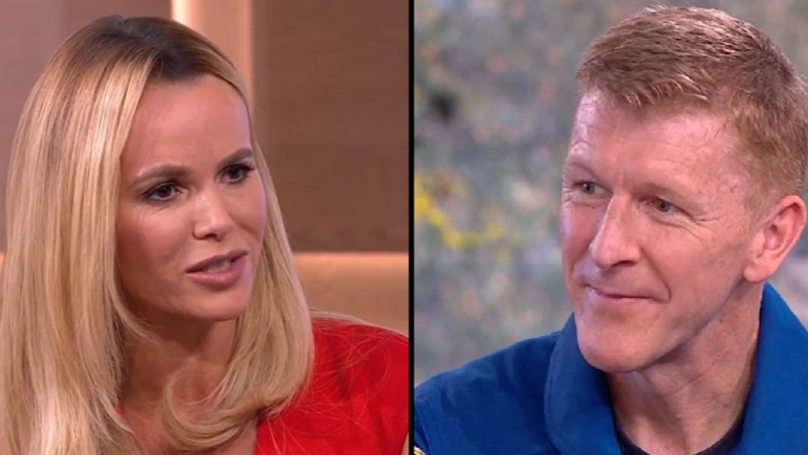 Amanda Holden Mocked For Asking ISS Astronaut Tim Peake If He Brought A Piece Of Moon Back