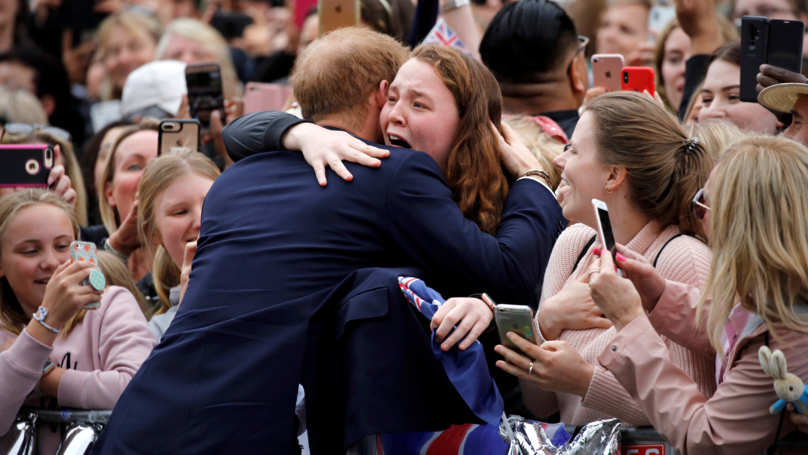 Prince Harry Tells Fan 'You're Going To Get Me Into Trouble' For Breaking Royal Protocol