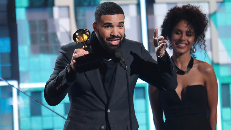 Drake's Acceptance Speech For Best Rap Song Was Cut Short Because He Dissed The Grammys