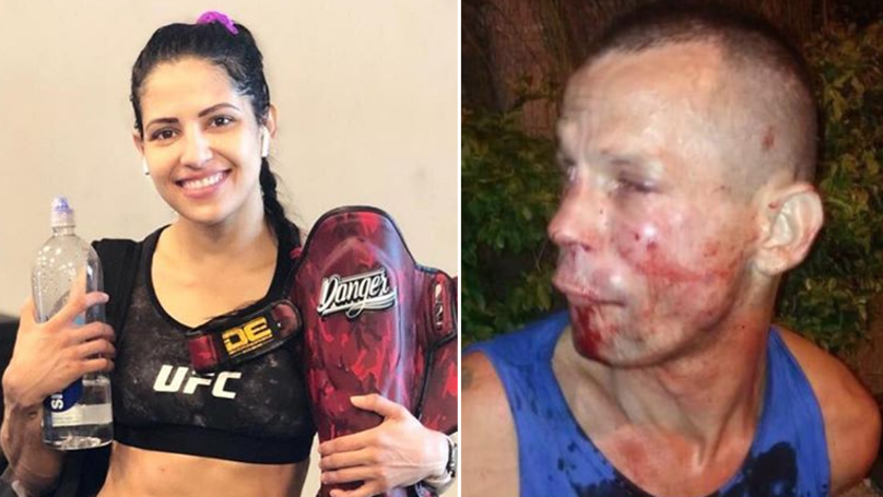 UFC's Polyana Viana​ Punched, Kicked And Choked Out Thug Who Threatened Her With Cardboard Gun