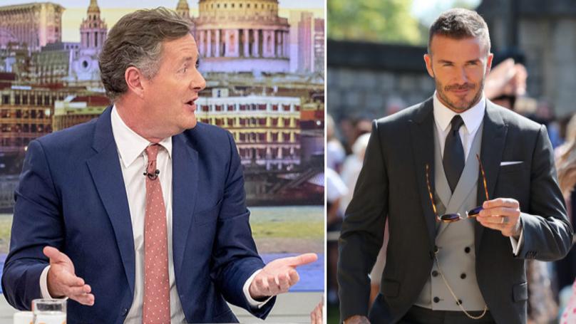 Piers Morgan Slams David Beckham For Chewing Gum At The Royal Wedding