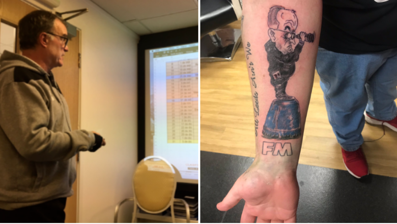 Leeds Fan Shows Off Unbelievable Marcelo Bielsa Tattoo
