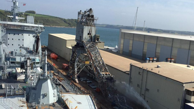 Falmouth Docks Evacuated After Crane Collapses