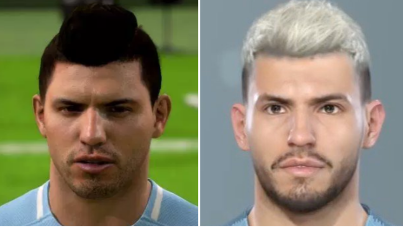 Sergio Agueros Updated Pes 2019 Face Blows Fifas Out Of The Water