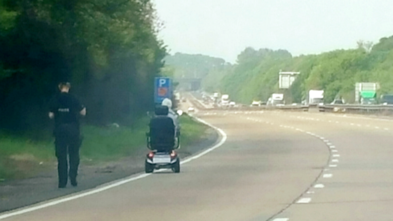 Woman Enters Dual Carriageway On Mobility Scooter
