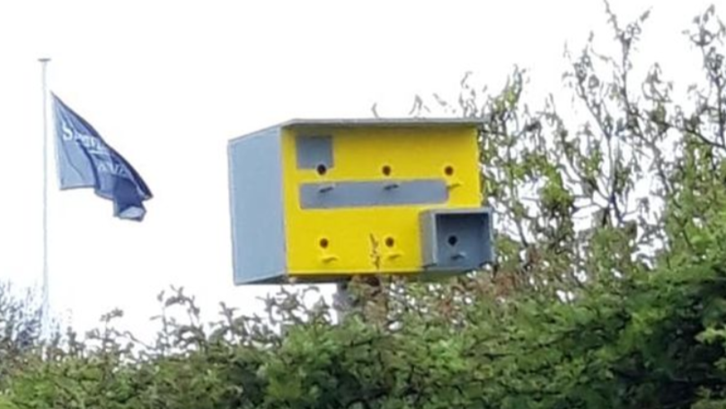 Homeowner Disguises Bird Box As Speed Camera To Slow Drivers Down