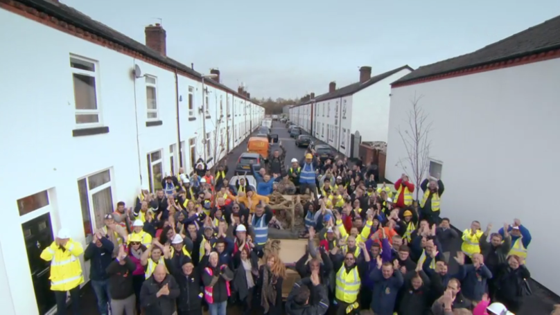 DIY SOS Transforms Derelict Street Into Haven For Injured Army Veterans