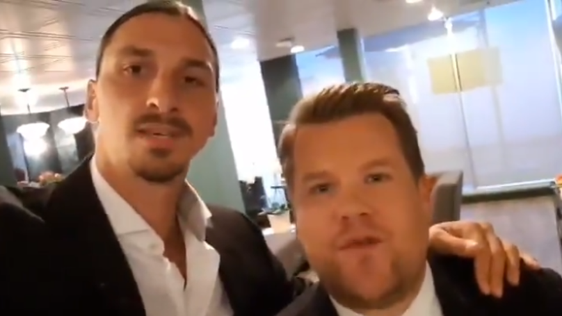 Zlatan Ibrahimovic Jokes To James Corden That West Ham United Can't Afford Him
