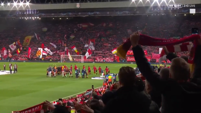 Liverpool Fans Belting Out 'You'll Never Walk Alone' Will Give You Goosebumps