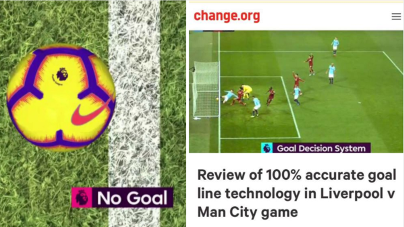 Liverpool Fan Starts Petition To Review The Goal-Line Technology In Manchester City Game