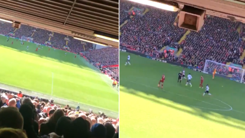 A Fan Has Uploaded A Video Of The Atmosphere At Anfield