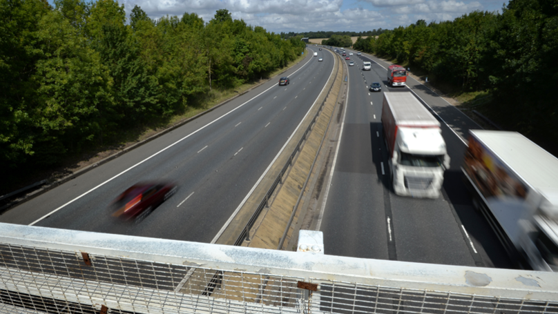 M11 Motorway Reopens To Traffic After A Lorry Overturned Earlier Today