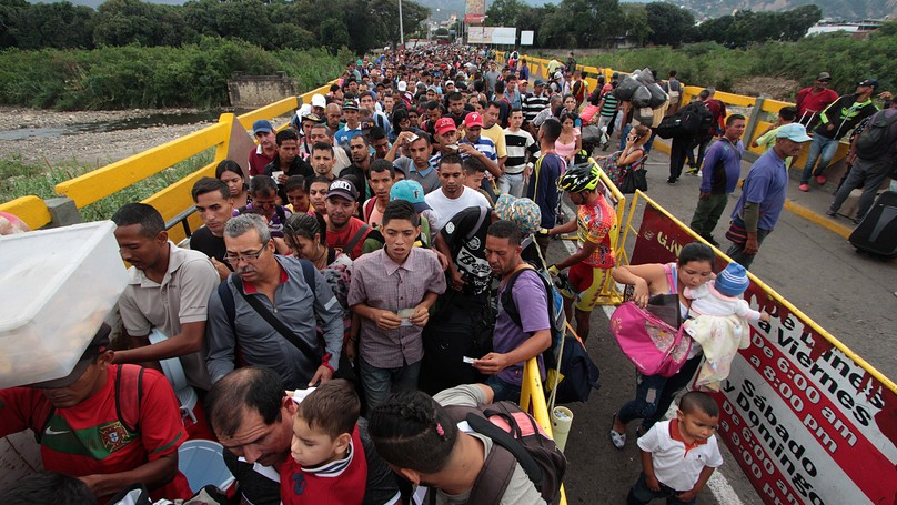 Image result for images of fleeing venezuelans