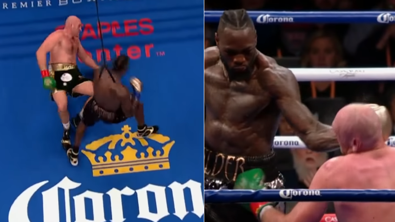 Every Angle Of Deontay Wilder's Brutal Punch That Floored Tyson Fury