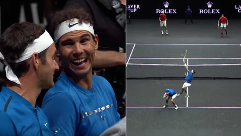 Roger Federer And Rafael Nadal Playing Together In Doubles Match Is Perfection