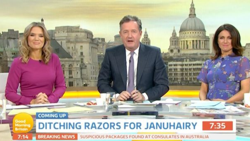 Piers Morgan Says Men Don't Fancy Women Who Don't Shave Their Underarms