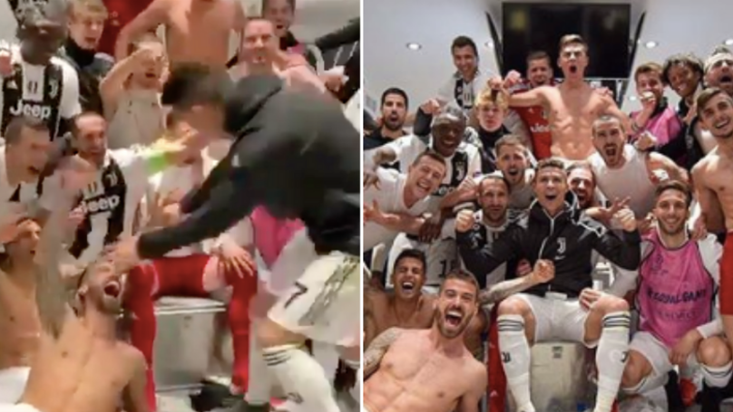 The Noise When Cristiano Ronaldo Entered The Juventus Dressing Room Is Something Else