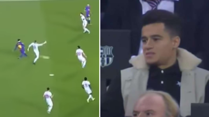 Lionel Messi Scores Stunning Goal, Philippe Coutinho Brilliantly Reacts