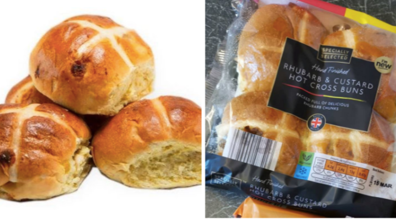 Aldi Launch Rhubarb and Custard Hot Cross Buns In Time For Easter