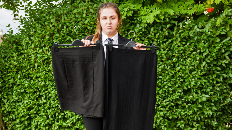Schoolgirl 'Forced To Wear Shorter Skirt' Because Of It's Made Of 'Wrong Material'
