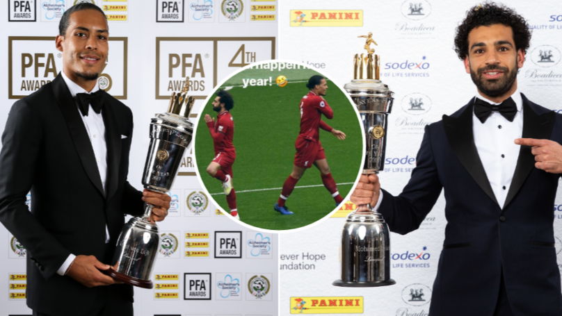 Mohamed Salah Hilariously Reacts To Virgil van Dijk Winning PFA Player Of The Year
