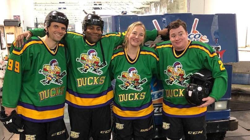 Mighty Ducks Stars Reunite At NHL Game In New York