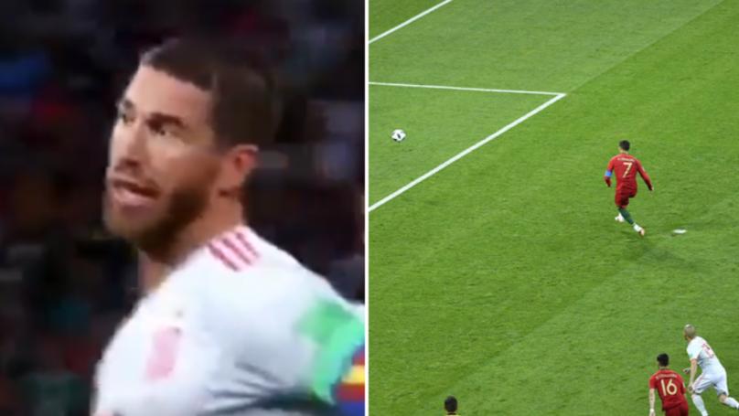 What Sergio Ramos Did Before Cristiano Ronaldo's Penalty Past David De Gea