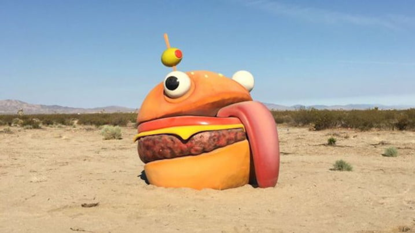 Mystery 'Durr Burger' Spotted In Californian Desert