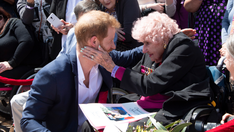 Prince Harry 'Deeply Saddened' After His Biggest Aussie Fan Daphne Died Aged 99