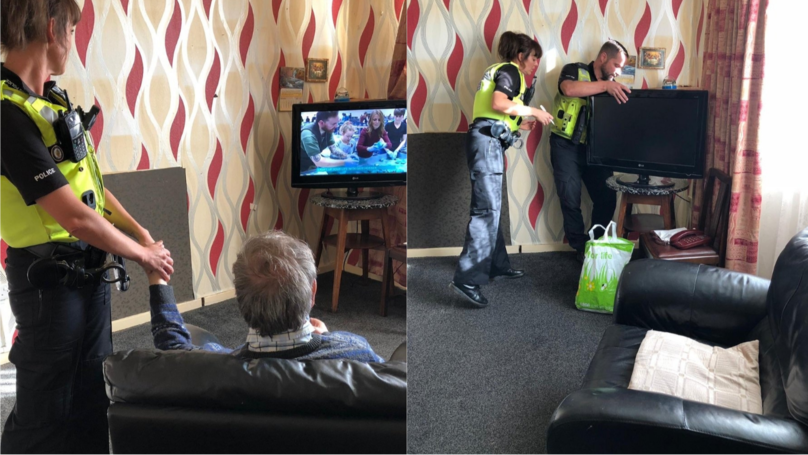 ​Police Officers Help Grieving OAP Who Was Left Without TV After Wife Died