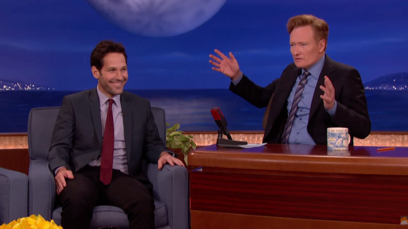 ​Paul Rudd's Been Playing The Same Prank On Conan O'Brien For 16 Years