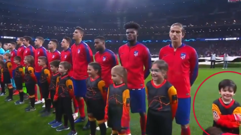 Antoine Griezmann Wins The Best Moment During A Champions League Anthem Ever