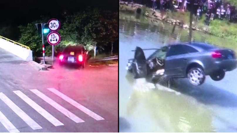 Driver Crashes Car Into River While Furiously Arguing With Girlfriend