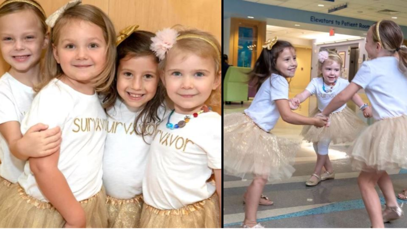 Four Girls Reunite After They Beat Cancer Together At The Same Hospital