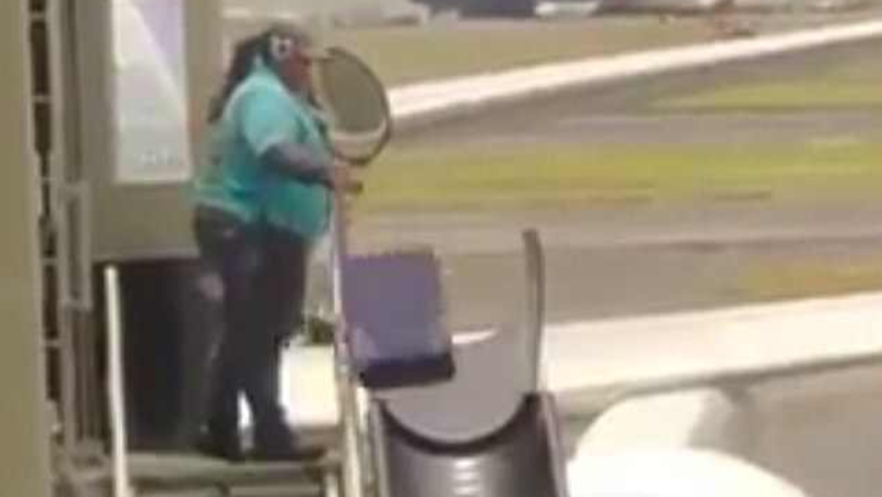 This Baggage Handler Was Caught Throwing Luggage Around