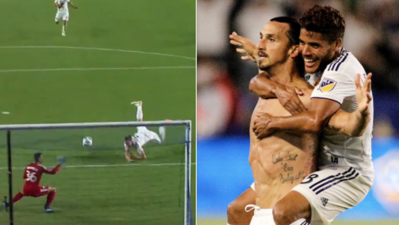 Zlatan Ibrahomivic Scores Ridiculous Hat-Trick And Celebrates In Only Way He Knows How