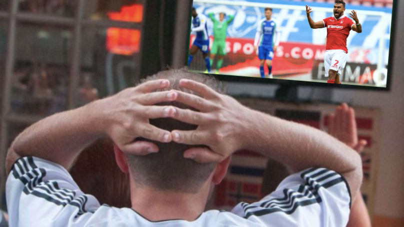 Punter Just Lost £1,000,000 From A Rebound Penalty In The 91st Minute