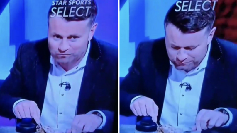 Shay Given Was Too Busy Enjoying His Meal To Enjoy Mo Salah's Goal